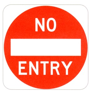 Picture of a No Entry sign