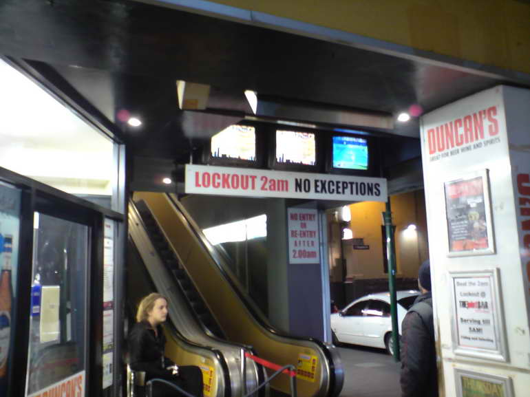 Picture of a Lockout Sign at a venue